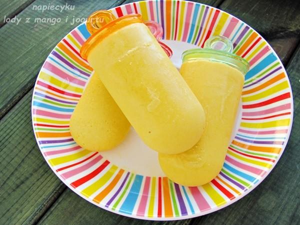 Lody jogurtowe z mango