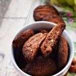 Ciasteczka razowe z nutellą i orzechami