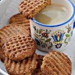 Zdrowe ciasteczka owsiane z orzechami