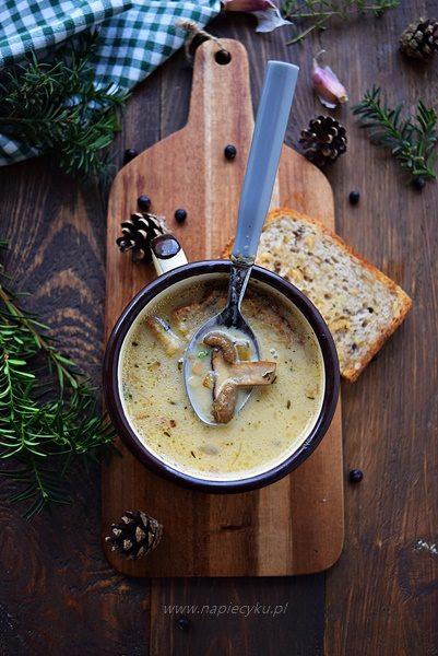 Zupa grzybowo - serowa